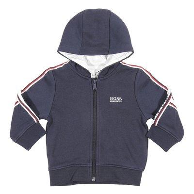 Blue logo cotton sweatshirt hoodie