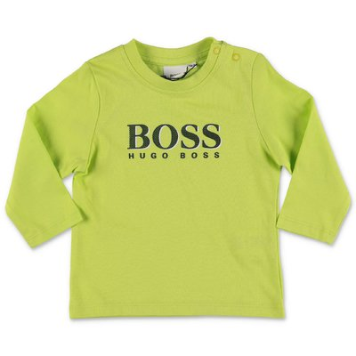 Hugo Boss lemon green cotton jersey t-shirt