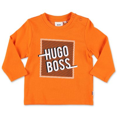 Hugo Boss t-shirt arancio in jersey di cotone
