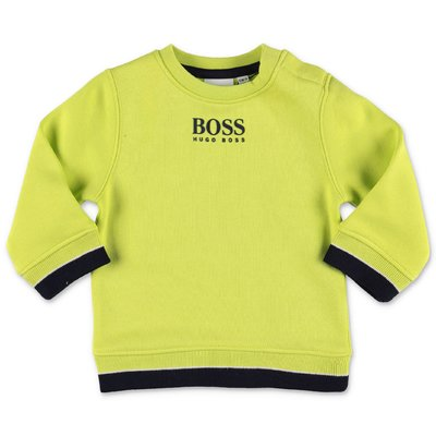 Hugo Boss fluorescent green cotton sweatshirt
