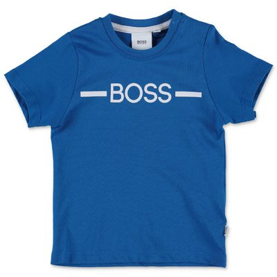 HUGO BOSS blue cotton jersey t-shirt