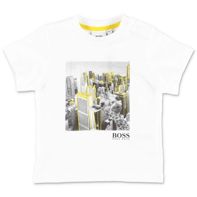 HUGO BOSS white cotton jersey t-shirt