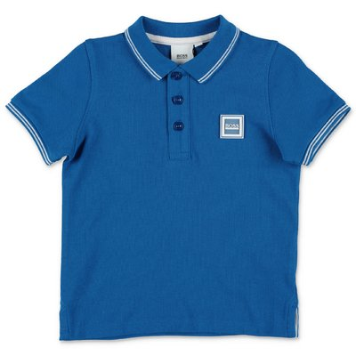 HUGO BOSS royal blue cotton piquet polo shirt