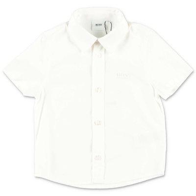HUGO BOSS white cotton poplin shirt