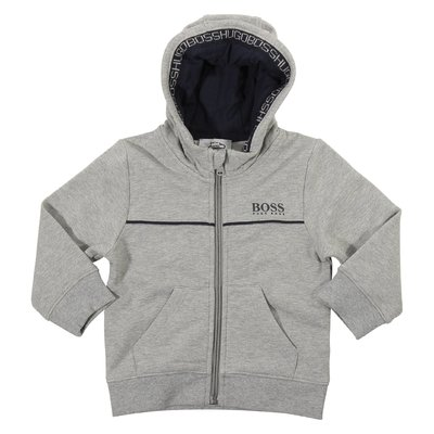 Grey logo cotton sweatshirt hoodie