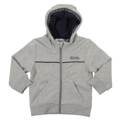 Grey logo cotton sweatshirt hoodie