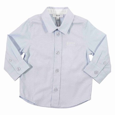 Light blue logo cotton poplin shirt