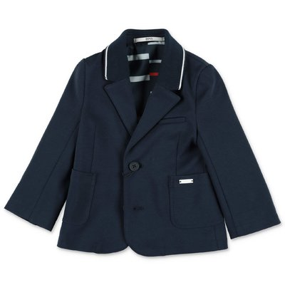 HUGO BOSS navy blue cotton blend jacket