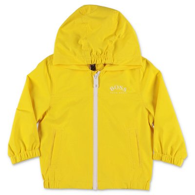 HUGO BOSS lemon yellow nylon hooded anorak