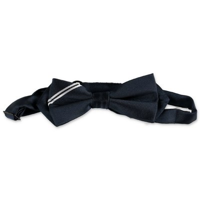 Hugo Boss navy blue techno bow tie