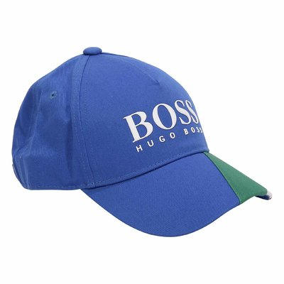 HUGO BOSS blue cotton canvas baseball cap
