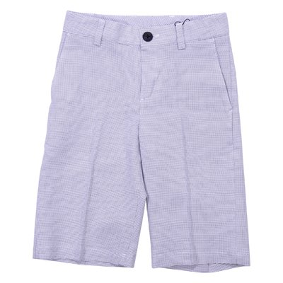 Grey cotton bermuda