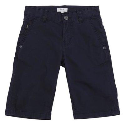Navy blue cotton gabardine shorts