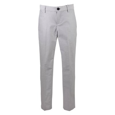 Light grey cotton gabardine pants
