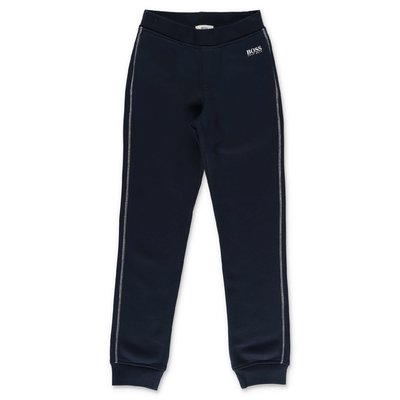 Hugo Boss pantaloni blu navy in cotone