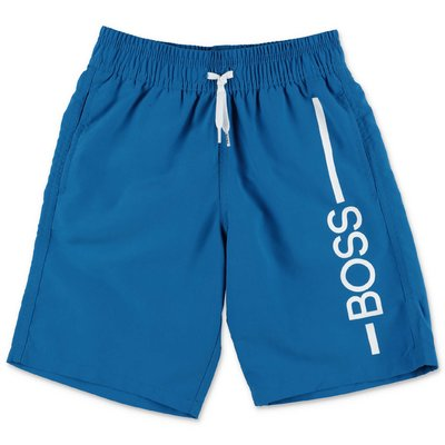HUGO BOSS royal blue nylon swim shorts