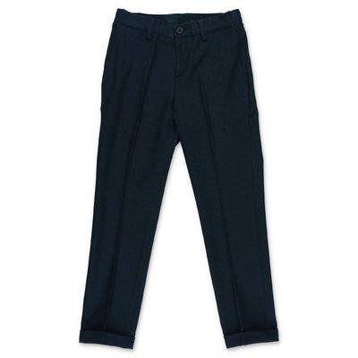 HUGO BOSS navy blue viscose blend pants
