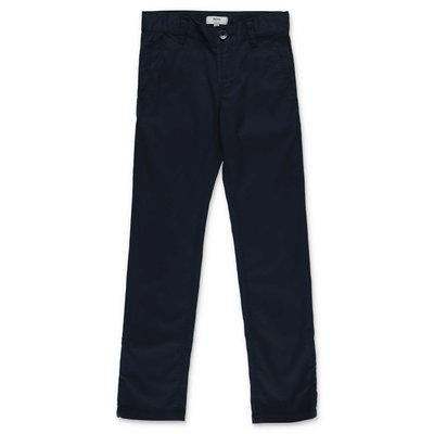 HUGO BOSS navy blue cotton gabardine pants