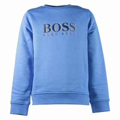 Light blue logo detail cotton sweatshirt