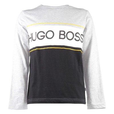 T-shirt grigia in jersey di cotone con logo