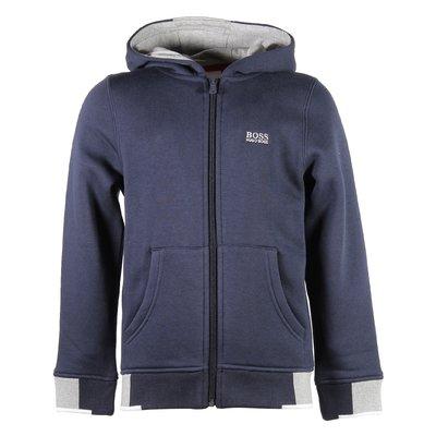 Blue cotton sweatshirt hoodie