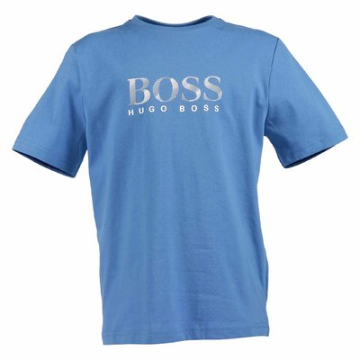 Blue logo detail cotton jersey t-shirt