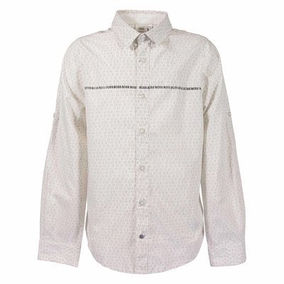 HUGO BOSS white logo detail shirt