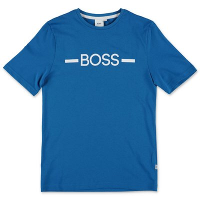 Hugo Boss royal blue cotton jersey t-shirt