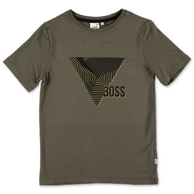 HUGO BOSS t-shirt verde militare in jersey di cotone