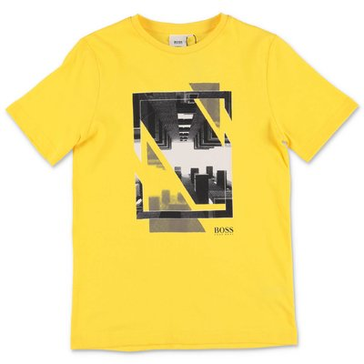 HUGO BOSS yellow cotton jersey t-shirt