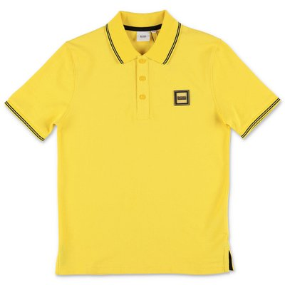 HUGO BOSS yellow cotton piquet polo