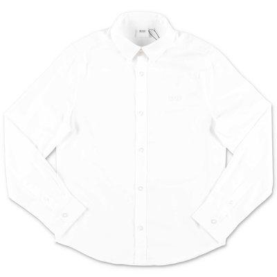 HUGO BOSS white cotton poplin Oxford shirt