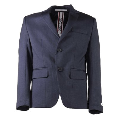 Blue viscose blend jacket