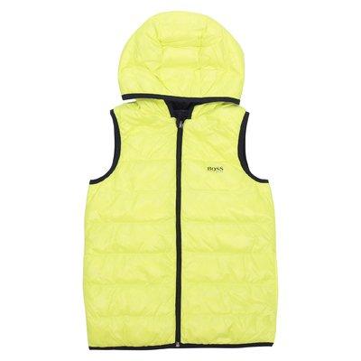 Hugo Boss reversible nylon down vest with hood