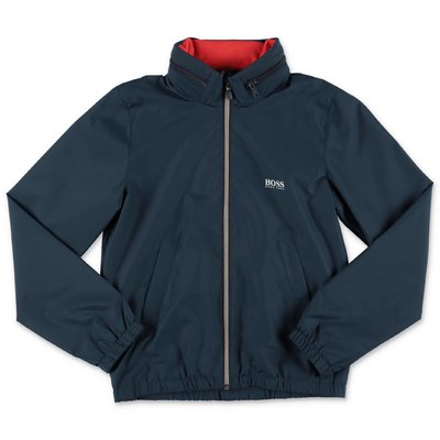 HUGO BOSS navy blue nylon jacket