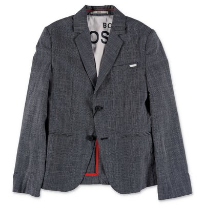 Hugo Boss giacca check in cotone