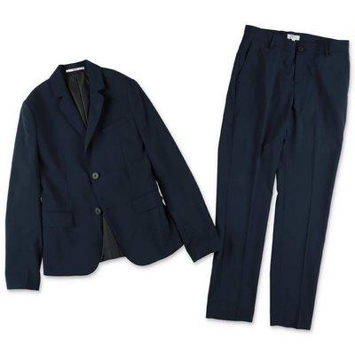 Hugo Boss blue jacket and pants suit