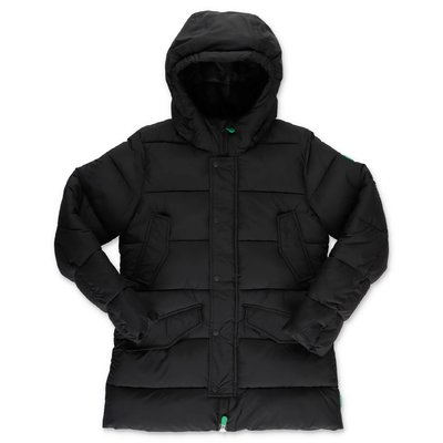 Save the Duck black nylon down jacket with hood