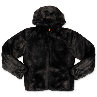 Save The Duck black reversible jacket with hood
