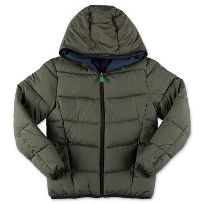 Save the Duck nylon reversible down jacket with hood