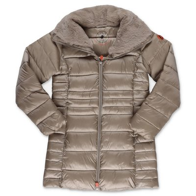 Save the Duck beige nylon down jacket