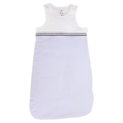 White and sky blue cotton sleeping bag