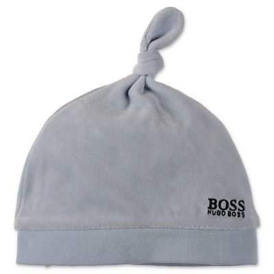 Hugo Boss light blue chenille hat