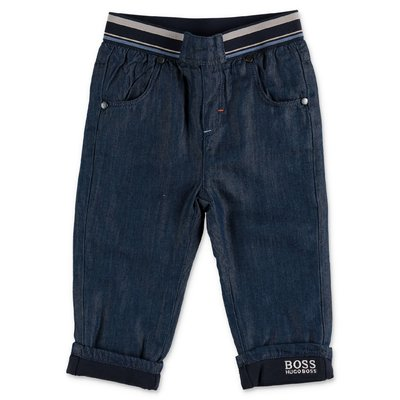Hugo Boss rinse wash jeans blu in denim di cotone