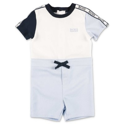 HUGO BOSS color block cotton jersey romper