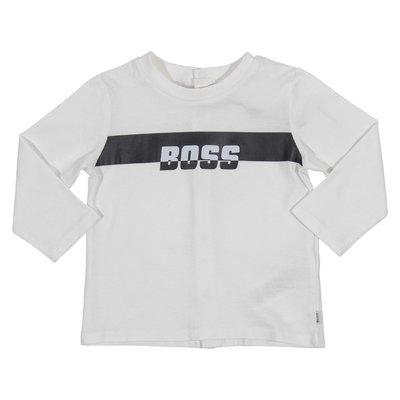 T-shirt bianca in jersey di cotone con logo
