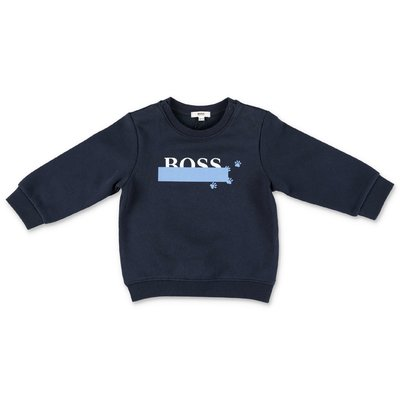 Hugo Boss navy blue cotton sweatshirt