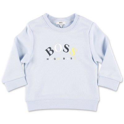 HUGO BOSS light blue cotton sweatshirt