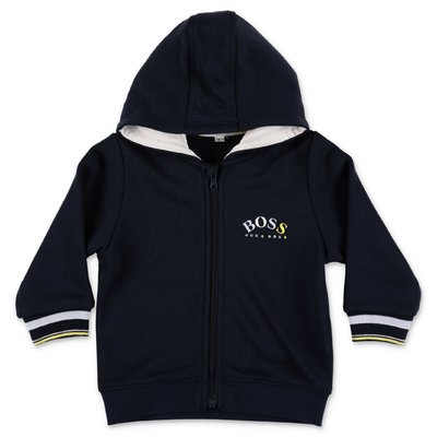 HUGO BOSS navy blue cotton hoodie