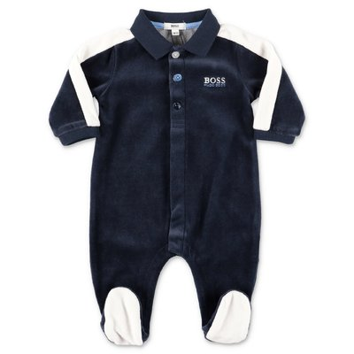 Hugo Boss blue chenille romper